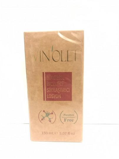 vinolet  bölgesel inceltici sıkılaştırıcı losyon 150 ml.